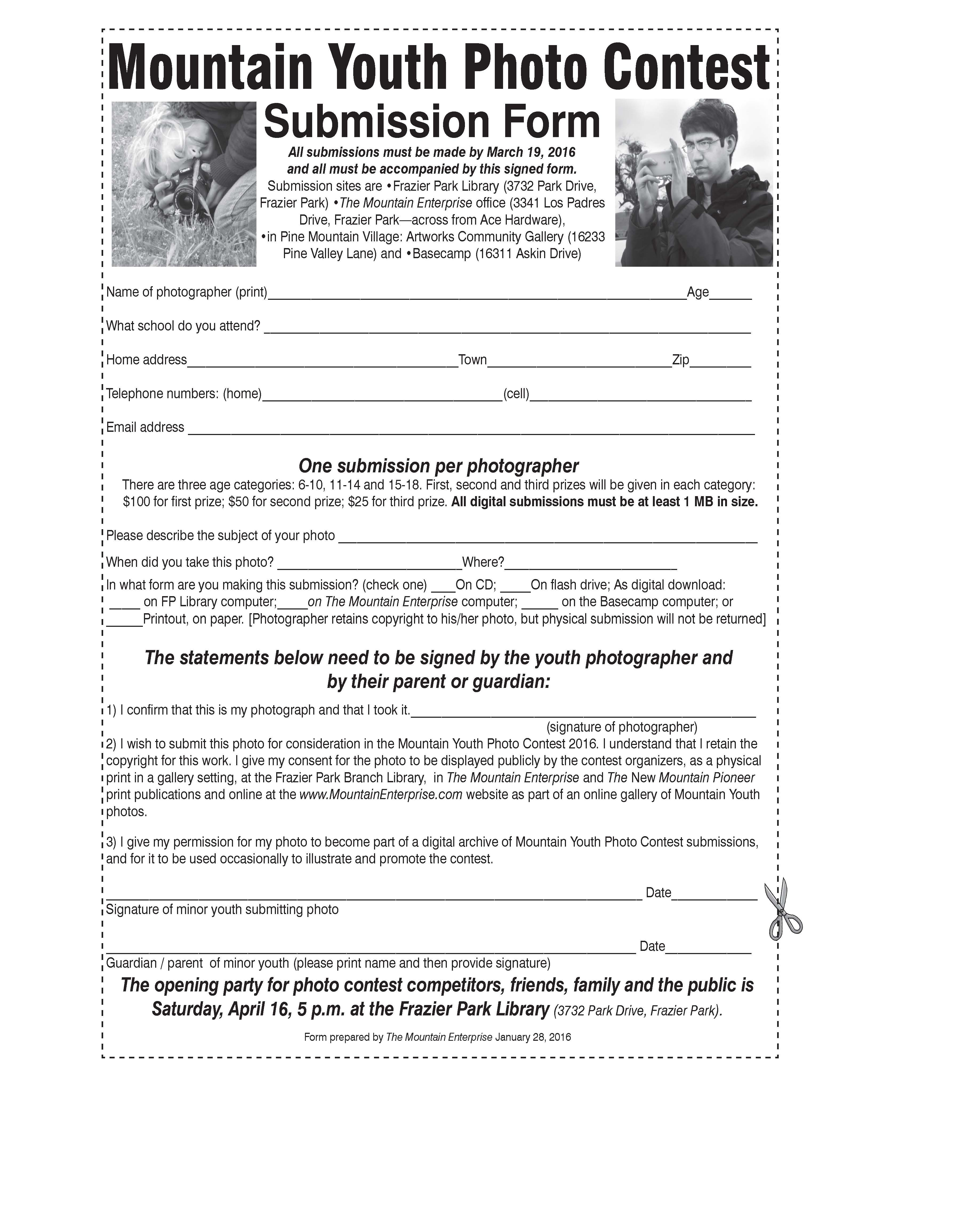 Photo Contest Submission Form :: The Mountain Enterprise