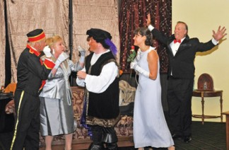 (l-r), Beans Morocco, Cam Acosta, Dale Sheldon, Bridget Rago and David Mack in 'Lend Me a Tenor.