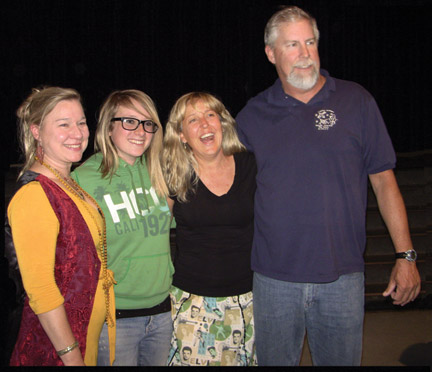 ComTec Academy teachers Tamara Trost, Yvette Heasley and John Domke with winner of the Outstanding Academy Student award, Charity David (in green). [Patric Hedlund photo]