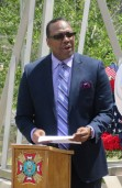 Memorial Day remarks by Terrence Alexis of National Cement Company