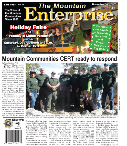 The Mountain Enterprise November 30, 2018 Edition