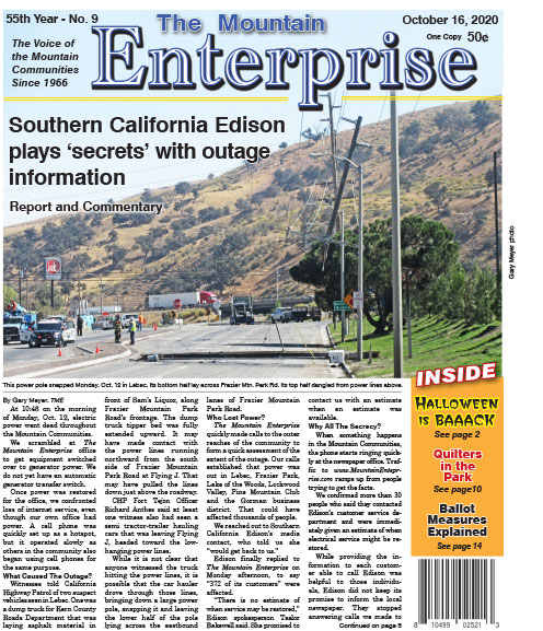The Mountain Enterprise October 16, 2020 Edition