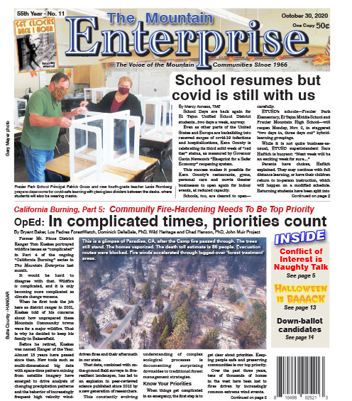 The Mountain Enterprise October 30, 2020 Edition