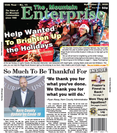 The Mountain Enterprise November 27, 2020 Edition