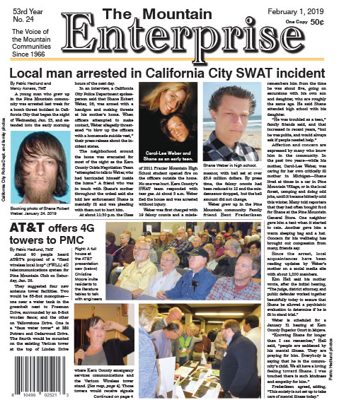 The Mountain Enterprise February 1, 2019 Edition
