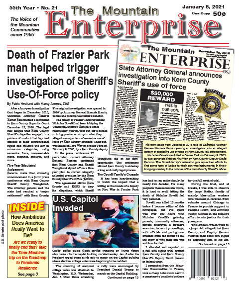 The Mountain Enterprise January 8, 2021 Edition