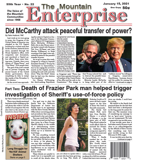 The Mountain Enterprise January 15, 2021 Edition