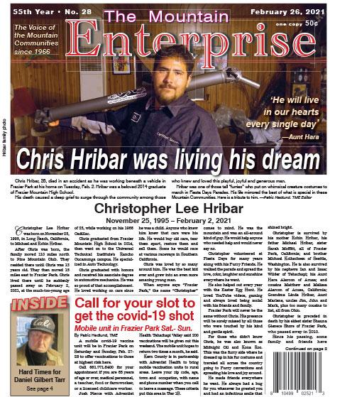 The Mountain Enterprise February 26, 2021 Edition