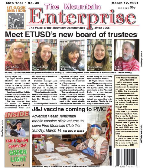 The Mountain Enterprise March 12, 2021 Edition