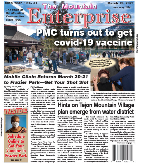 The Mountain Enterprise March 19, 2021 Edition