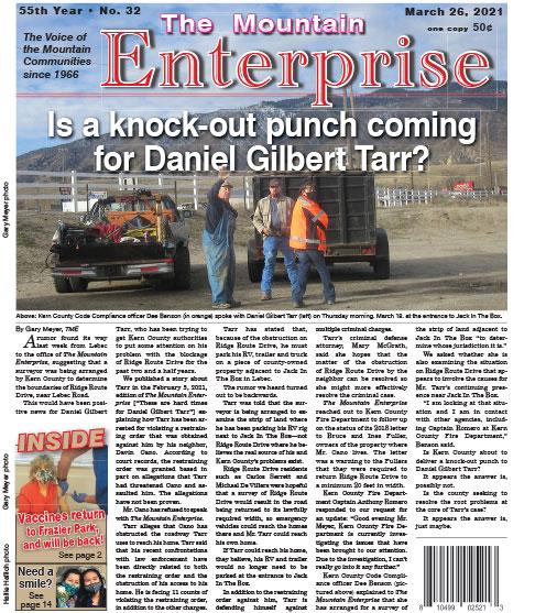 The Mountain Enterprise March 26, 2021 Edition