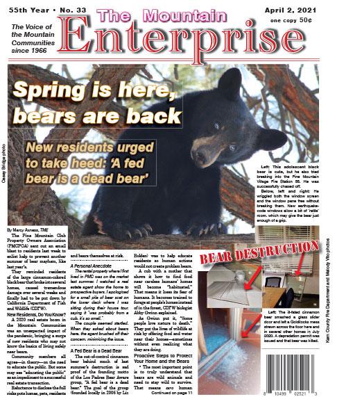 The Mountain Enterprise April 2, 2021 Edition