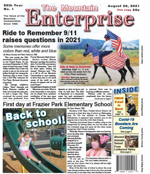 The Mountain Enterprise August 20, 2021 Edition