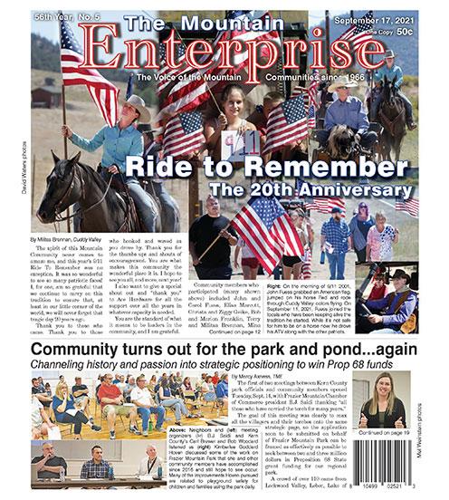 The Mountain Enterprise September 17, 2021 Edition