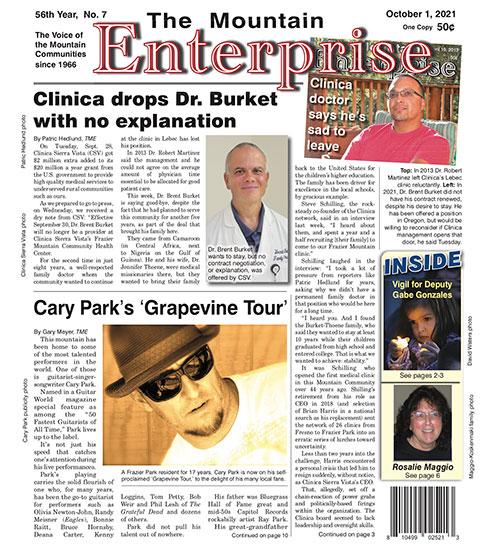 The Mountain Enterprise October 1, 2021 Edition