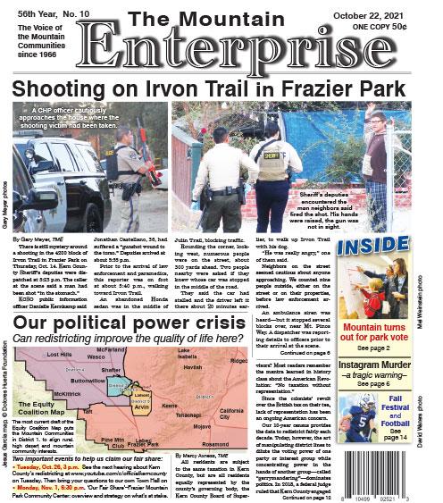 The Mountain Enterprise October 22, 2021 Edition