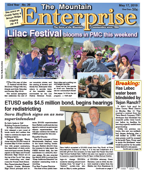 The Mountain Enterprise May 17, 2019 Edition