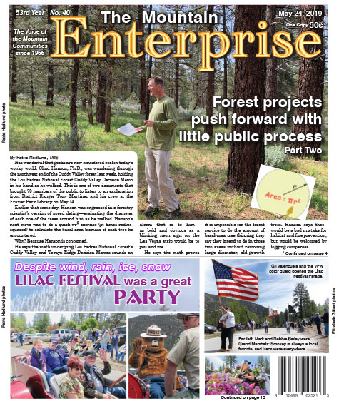 The Mountain Enterprise May 24, 2019 Edition