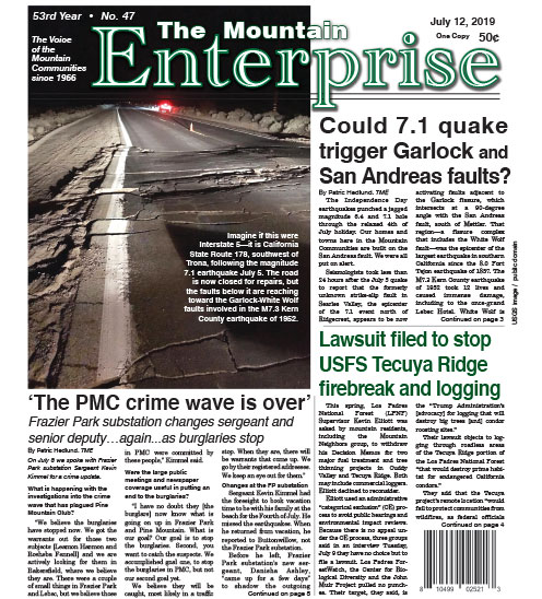 The Mountain Enterprise July 12, 2019 Edition