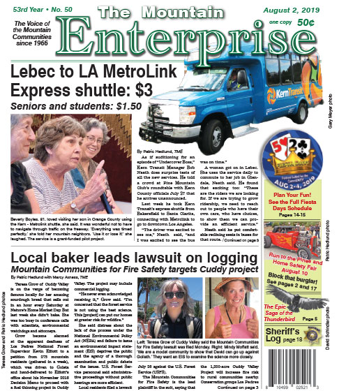 The Mountain Enterprise August 2, 2019 Edition