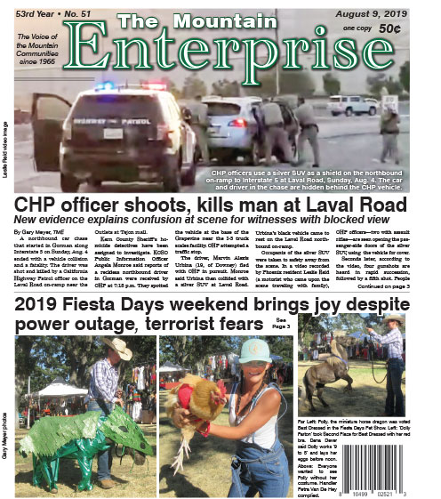 The Mountain Enterprise August 9, 2019 Edition