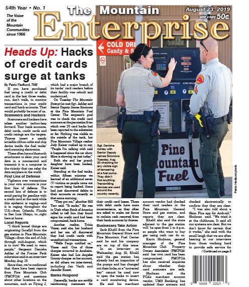 The Mountain Enterprise August 23, 2019 Edition