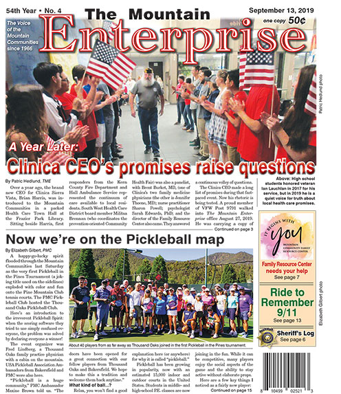 The Mountain Enterprise September 13, 2019 Edition