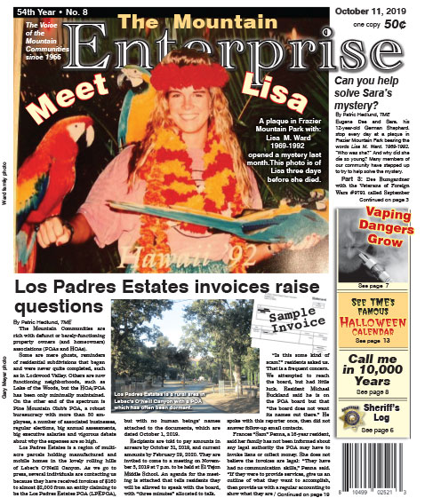 The Mountain Enterprise October 11, 2019 Edition