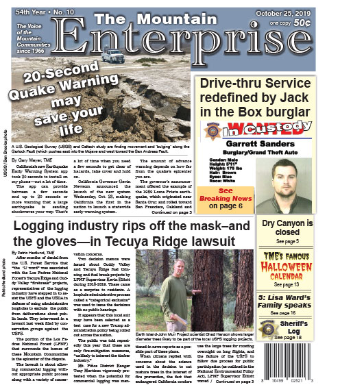 The Mountain Enterprise October 25, 2019 Edition
