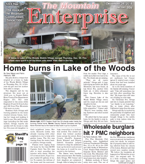 The Mountain Enterprise December 28, 2018 Edition