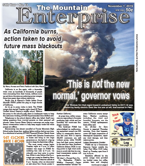The Mountain Enterprise November 1, 2019 Edition