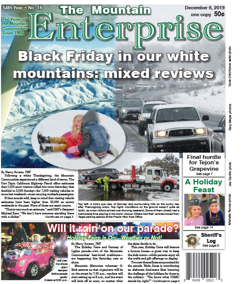 The Mountain Enterprise December 6, 2019 Edition