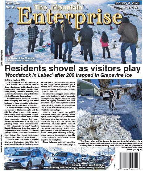The Mountain Enterprise January 3, 2020 Edition
