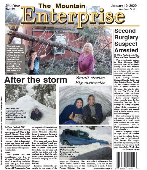 The Mountain Enterprise January 10, 2020 Edition