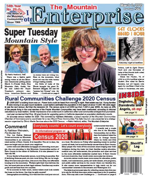 The Mountain Enterprise March 6, 2020 Edition