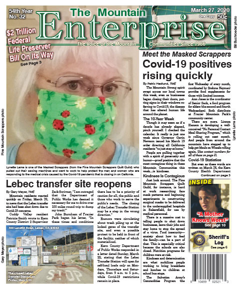 The Mountain Enterprise March 27, 2020 Edition
