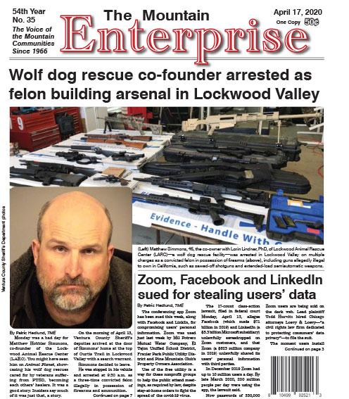 The Mountain Enterprise April 17, 2020 Edition