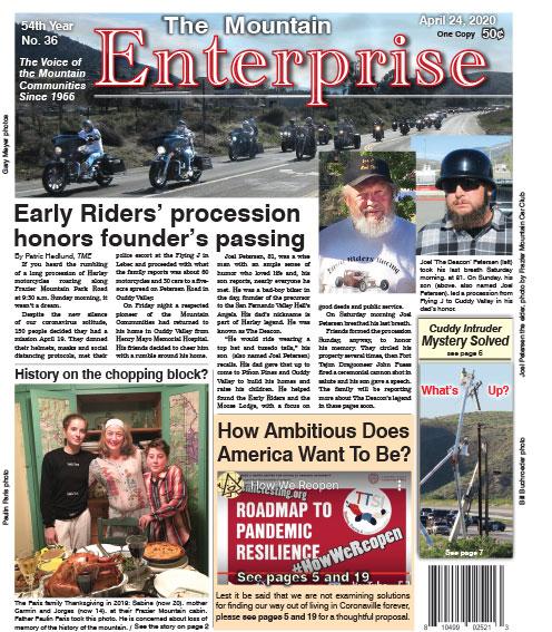The Mountain Enterprise April 24, 2020 Edition