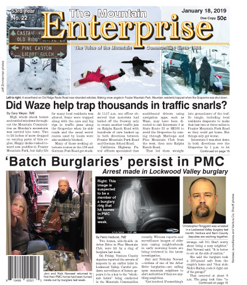 The Mountain Enterprise January 18, 2019 Edition
