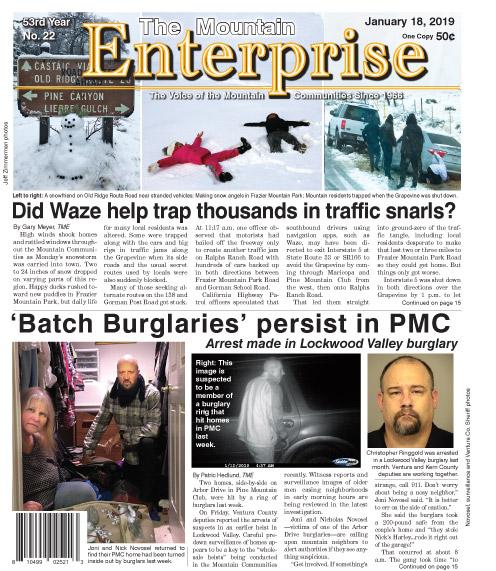 The Mountain Enterprise January 18, 2019 Edition