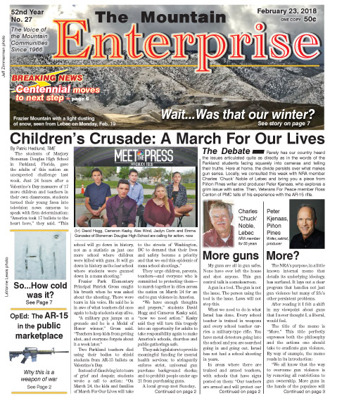 The Mountain Enterprise February 23, 2018 Edition