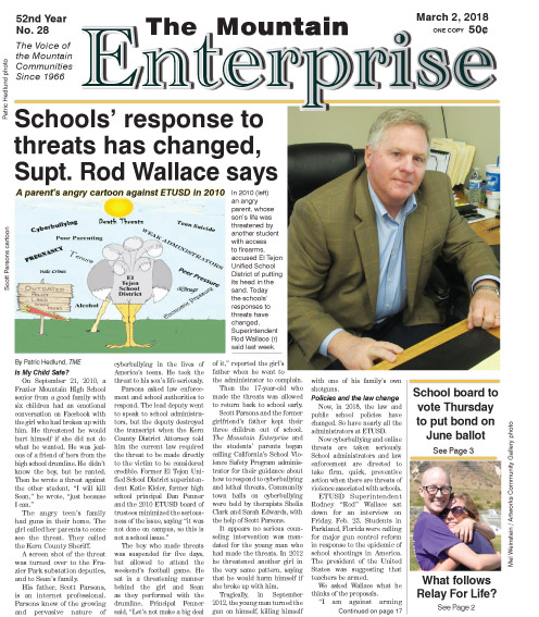 The Mountain Enterprise March 2, 2018 Edition