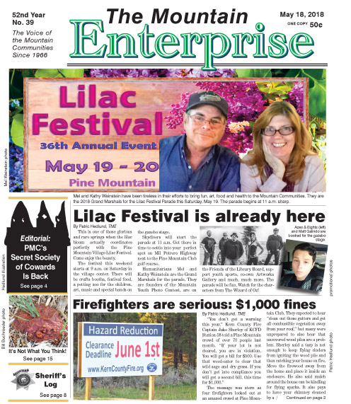 The Mountain Enterprise May 18, 2018 Edition