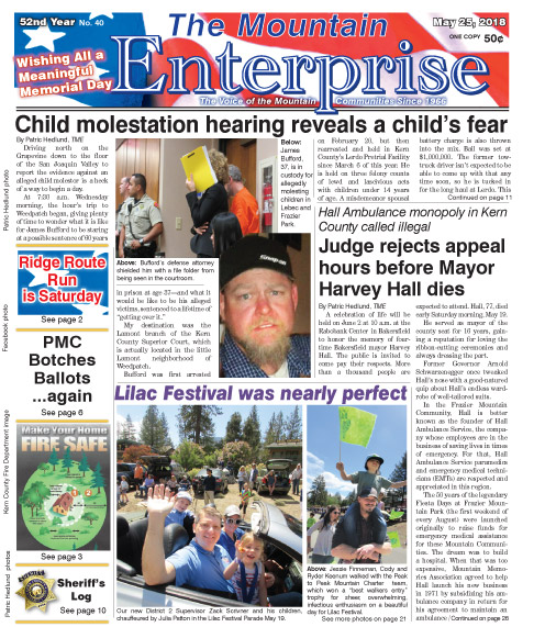 The Mountain Enterprise May 25, 2018 Edition