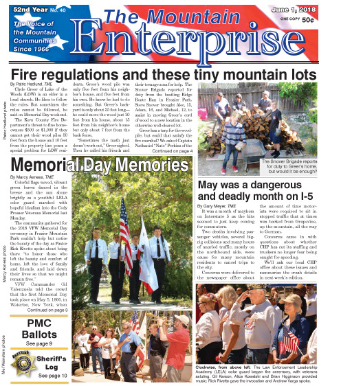 The Mountain Enterprise June 1, 2018 Edition