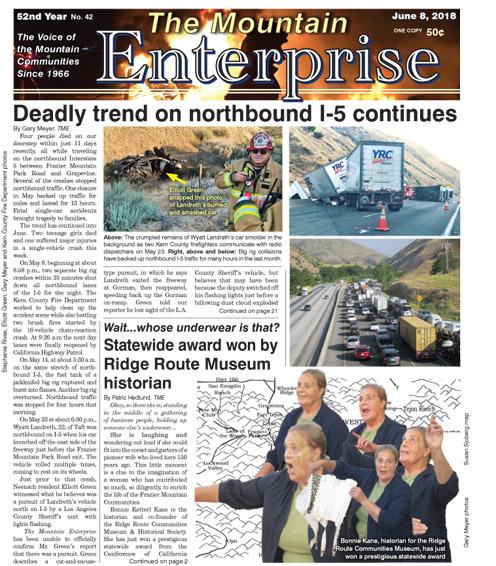 The Mountain Enterprise June 8, 2018 Edition