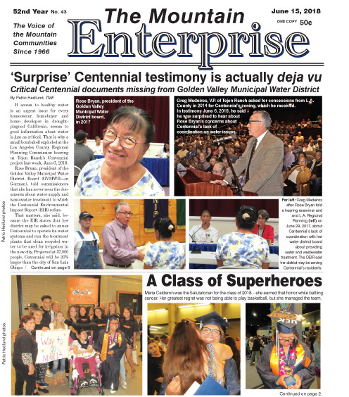 The Mountain Enterprise June 15, 2018 Edition