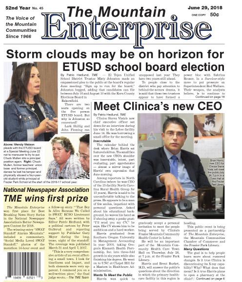 The Mountain Enterprise June 29, 2018 Edition