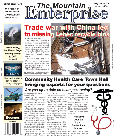 The Mountain Enterprise July 20, 2018 Edition