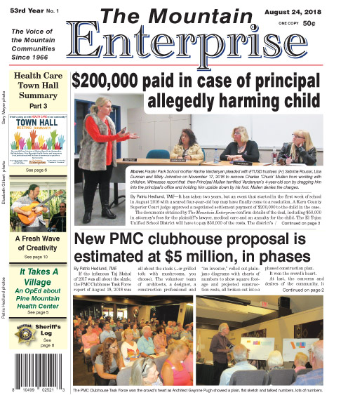 The Mountain Enterprise August 24, 2018 Edition